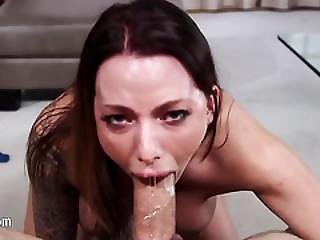 Treally Perfect Deep Blowjob With Bitch
