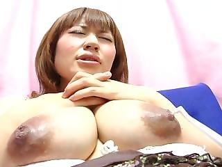 Yui - Cute Japanese Preggo Toothbrush Nipple Play