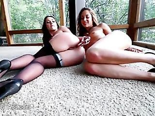 Sleek Lesbian Anal Action