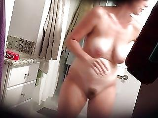 Hot Wife With Huge Tits After Shower