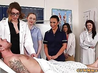 blowjob, cfnm, cumshot, enfermera, chupando