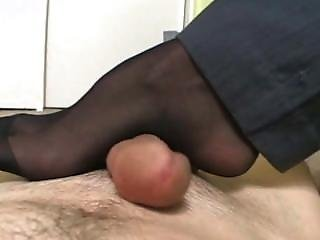Crazy, Fetish, Foot, Footjob, Nylon