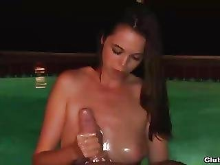 Swimming Pool Handjob