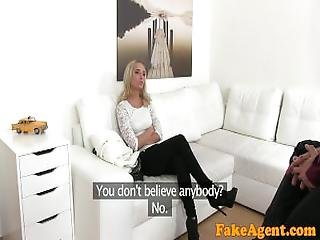Fake Agent Super Hot Skinny Fitness Blonde Loves Riding And Sucking Cock