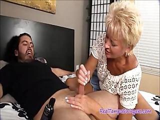 Swingers Naughty Auntie Handjob