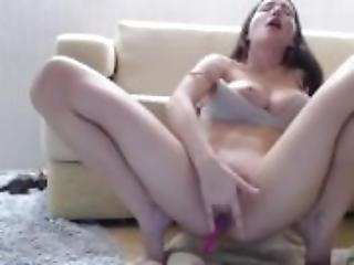 This sweet brunette is sexy as hell watch part2 on 19cam com