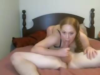 amatør, babe, blowjob, fletninger, krem, creampie, fetish, hardcore, langt hår, rødhåret, sexet, webcam