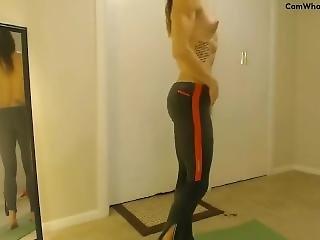 Spandex Muscle Girl Yoga