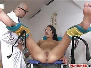 Skinny Teen Nataly Gold Asshole Fucked By Pervert Doctor