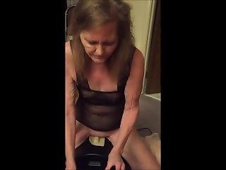 Wife Rides Our New Motorbunny (sybian Clone)