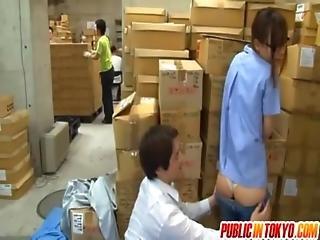 Teen Fucks A Guy In A Public Warehouse