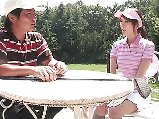 Naughty Brunette Sucks Studs Dick After A Game Of Golf
