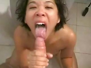 Asian Sucking The Fuck Out Of The Dick