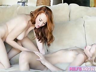 Only A Milf Slut Can Show A Hot Teen Babe The Ways Of Sex