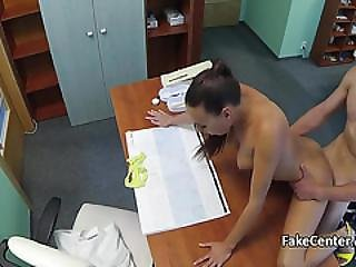 Busty Pigtailed Brunette Nurse Fucked In Hospital