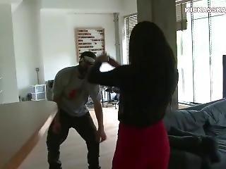 Kickass Sexy Girl Fight Man Femdom Beatdown