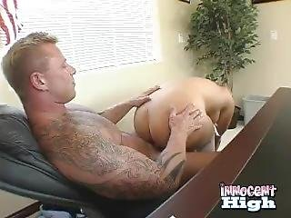 Big Dumb Bodybuilder Principal Fucks