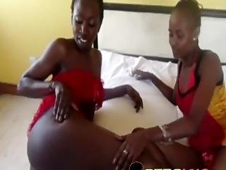 Chocolate Sluts Have Steamy Lesbo Sex In Their Bedroom