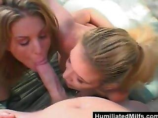 Abused Milfs Swapping Cum On The Beach