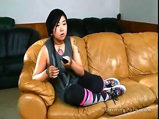 Angel, Asian, Banging, Couch, Couple, Ethnic, Fetish, Fucking, Goth, Hardcore, Leather, Lick, Oral, Pornstar, Pussy, Sex, Tattoo