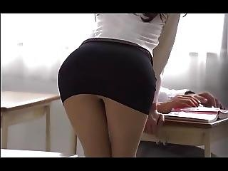 Woman Tight Mini Skirt Is Sexy