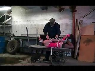 Slutty Party Girl Kidnapped And Hogtied