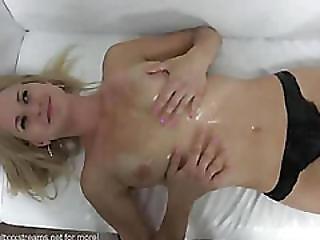 Czech Amateur Karin Fucks On Casting