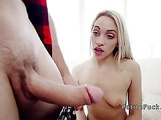 Blonde Teen With No Fear Bangs Monster Cock