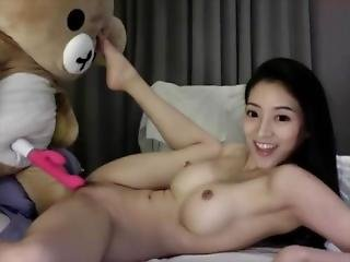 Asian Camgirl Fuck A Teddy Bear - Watch Part2 On Thepussyshow.com
