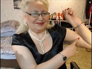 Nice Granny Tries To Flex Her Biceps