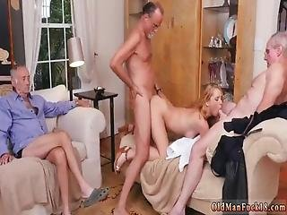 College Old Man Frannkie And The Gang Tag Team A Door To Door Saleswoman