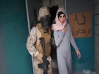 Tour Of Booty - Arab Hooker Satisfies American Soldiers In A War Zone