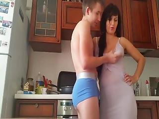 Teen Boy Trying To Seduces Mature Divorced Milf In Kitchen