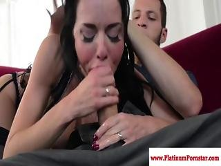 Veronica Avluv Deepthroats His Hard Cock
