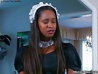 Sexy Ass Black Maid Fucked Good