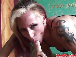 Pierced Dutch Hooker Sucking Before Oral