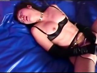 fetysz, rękawiczki, japonka, bielizna, masturbacja, orgazm, solo