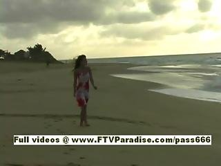 Andrea Nasty Redhead Teenage Walking On The Beach