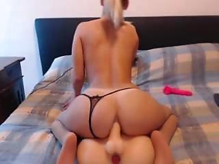 Model Fucks Her Ass Using Sexytoy