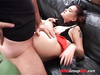 Flexible Teen In Wild Anal Orgy
