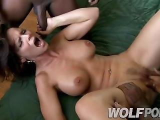 Beautiful Milf Is Fucked By Two Blacks While Her Husband Is Not.