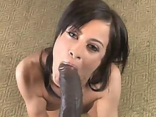 Lewd Brunette Cecelia Vega Gets Picked Up By Black Stud With Massive Dick