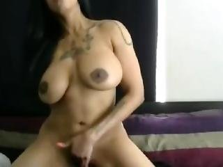 Sexiest Ebony With Huge Fake Boobs