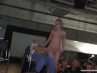 Blonde Babe Makes Everybody Horny