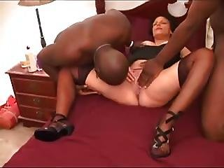 Slutty Milf And Pregnant With 2 Bbc