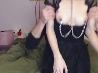 Kira Ballgagged And Nippleclamped