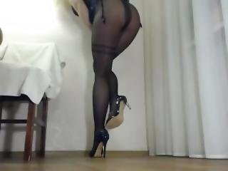 bonasse, blonde, fétiche, nylon, solo, webcam