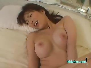Busty Asian Girl Sucking Cock In 69 Stimulated And Fucked With Toys On The