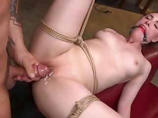 Hot Body Casey Calvert Restrained And Fucked In Brutal Rope Bondage