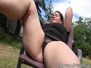 Chubby And Busty Granny Spreads Her Legs And Plays With Her Meaty Vagina While Camera Does A Close Up Focus Of Her Pussy!